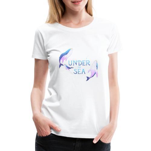 Under the Sea - Les Baleines - Women's Premium T-Shirt