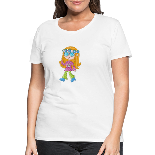 Hippie Girl - Frauen Premium T-Shirt