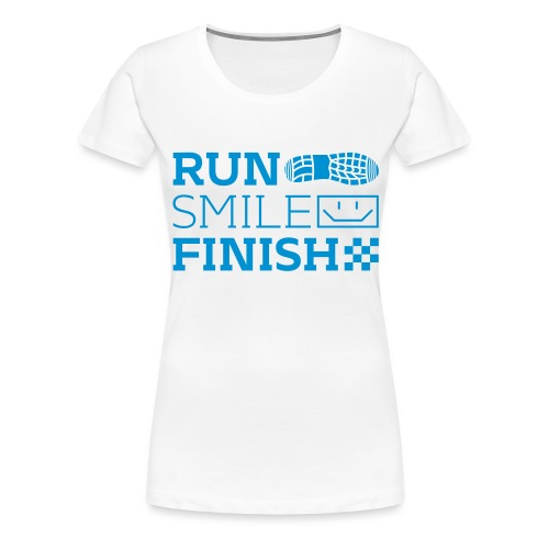 Run Smile Finish Marathon-Motto - Frauen Premium T-Shirt