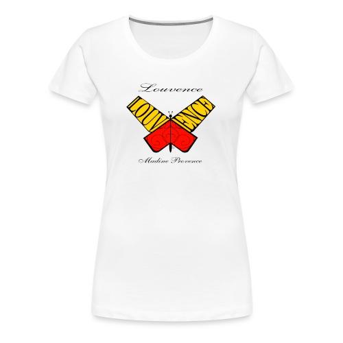 Papillon Louvence - T-shirt Premium Femme