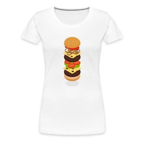 Isometric Burger Tower - Women's Premium T-Shirt