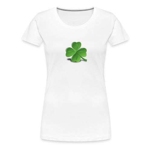 vierblättriges Kleeblatt - Frauen Premium T-Shirt