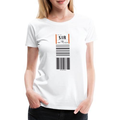 Flughafen Sitten - Sion - SIR - Frauen Premium T-Shirt