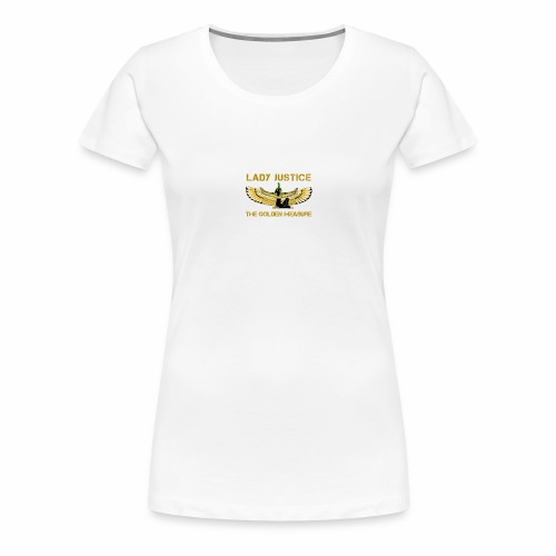 Lady Justice Golden Measure - Women's Premium T-Shirt