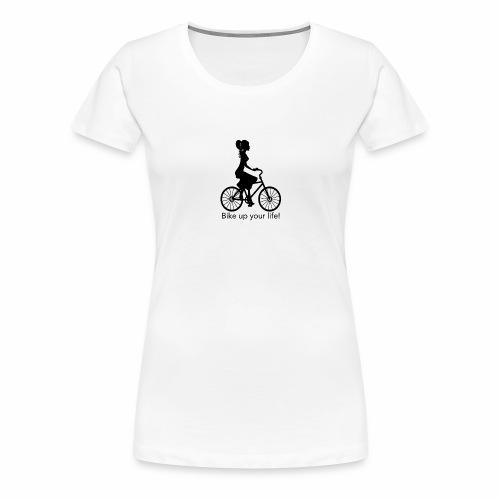 Fahrradfahrerin auf Bike - Frauen Premium T-Shirt