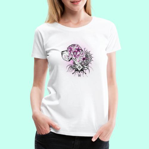 Doggen Portrait Tattoo Style - Frauen Premium T-Shirt