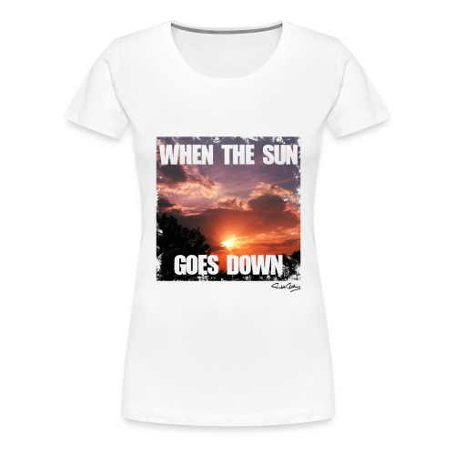 when the sun goes down png - Frauen Premium T-Shirt