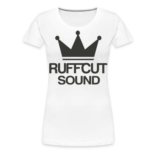 Tshirt Ruffcut Black png - Frauen Premium T-Shirt