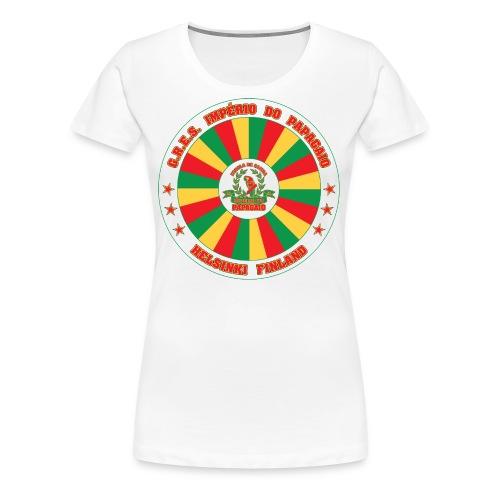 Papagaio drum logo - Naisten premium t-paita