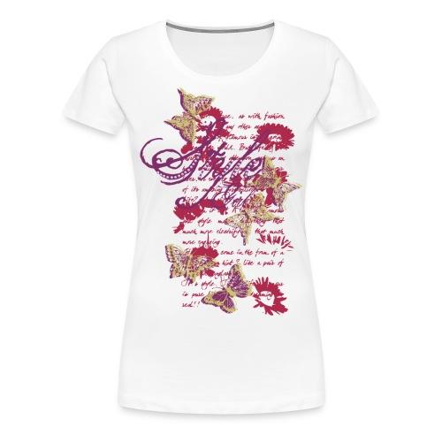 Style Butterfly - Maglietta Premium da donna