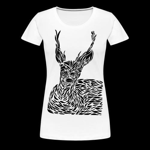 deer black and white - Naisten premium t-paita