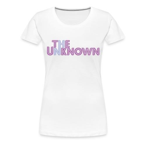 The Unknown logo color - Dame premium T-shirt