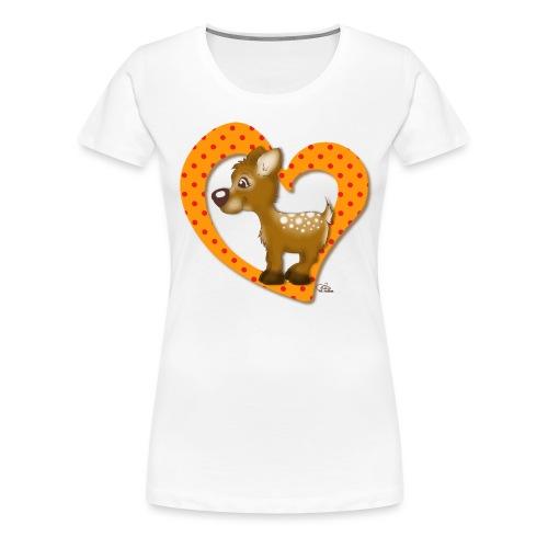Kira Kitzi Mandarine - Frauen Premium T-Shirt