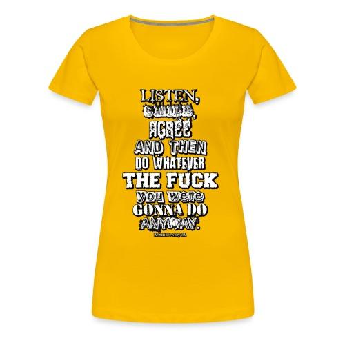 Listen smile Design B2 - Frauen Premium T-Shirt