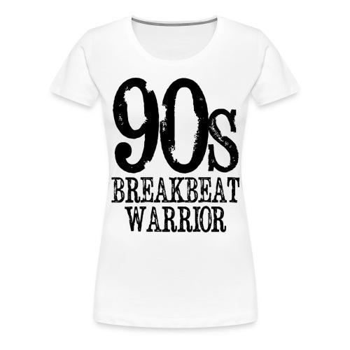 90s BREAKBEAT WARRIOR gif - Women's Premium T-Shirt