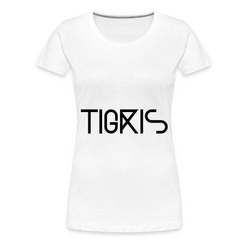Tigris Vector Text Black - Women's Premium T-Shirt