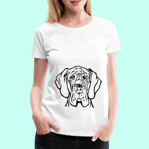 Die denkende Dogge - Frauen Premium T-Shirt