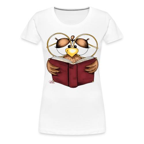 Gretchen Büchereule - Frauen Premium T-Shirt
