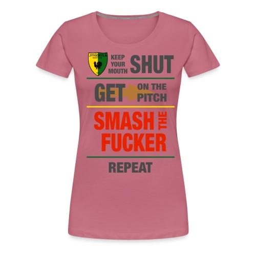 JRC Smash Grey - Naisten premium t-paita