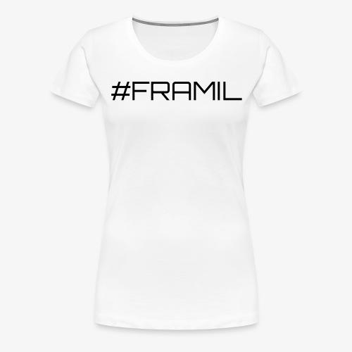 Musta framil - Naisten premium t-paita