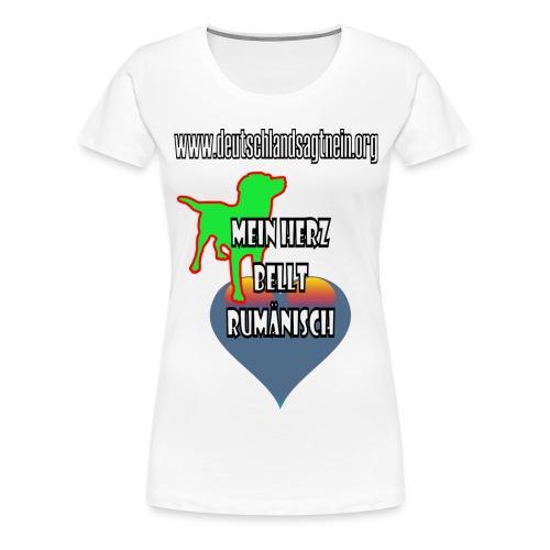 Herz bellt rumänisch - Frauen Premium T-Shirt