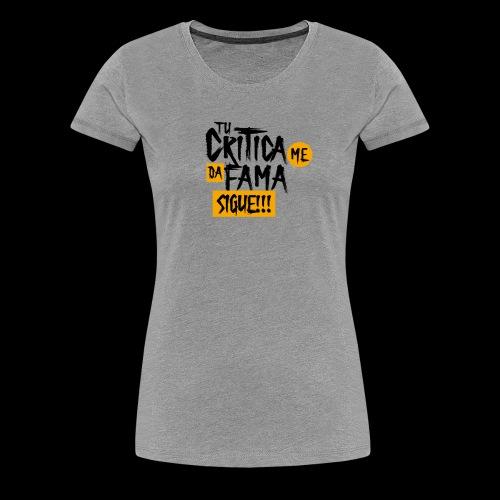 CRITICA - Camiseta premium mujer
