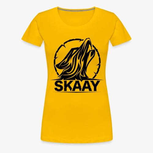 Skaay Logo Schwarz GeniyArts png - Frauen Premium T-Shirt