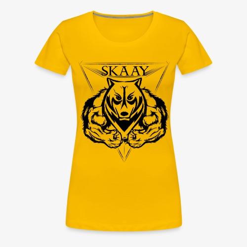 skaay logo black schottdesign png - Frauen Premium T-Shirt