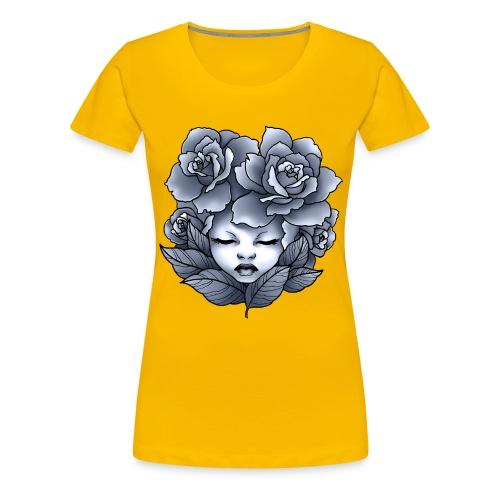 Flower Head - T-shirt Premium Femme