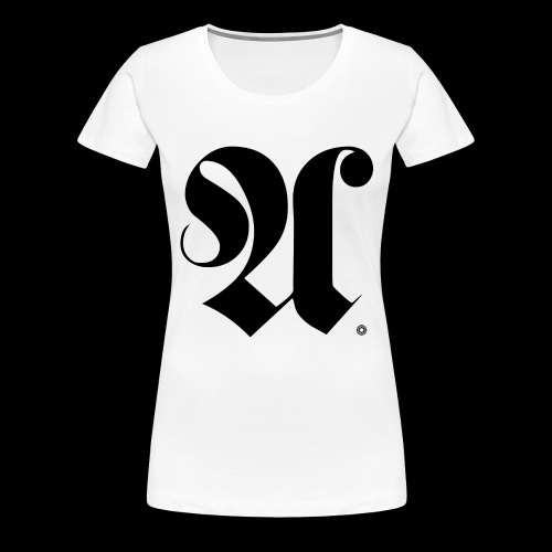 INITIAL x A x KUGELLAGER x SCHWARZ - Frauen Premium T-Shirt