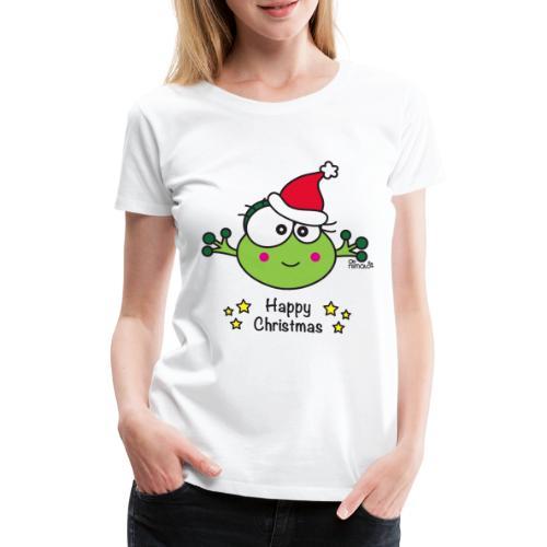 Grenouille F, Frog, Fêtes Nôel, Happy Christmas - T-shirt Premium Femme
