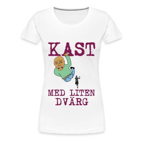 kast med liten dvarg 3500x4502 png - Premium-T-shirt dam