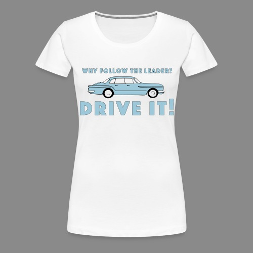 Vintage Plymouth Valiant slogan with car drawing - Premium-T-shirt dam