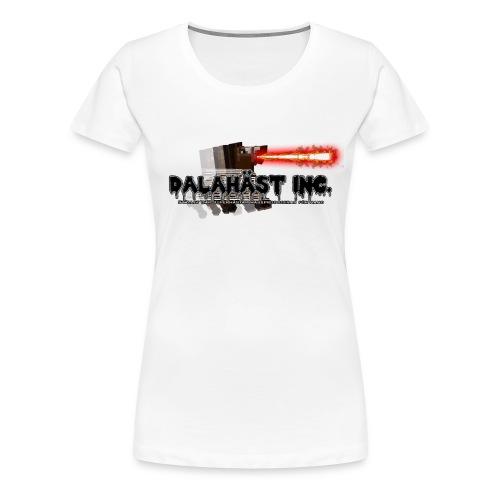 Dalahäst Inc Logo - Premium-T-shirt dam