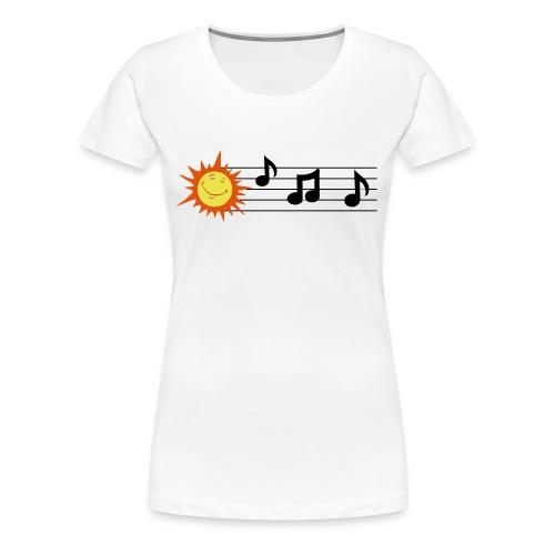 Treble Clef - Clave de Sol - Women's Premium T-Shirt