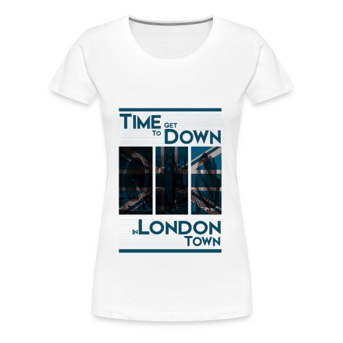 Down In.. (Blue) By HXG - Women's Premium T-Shirt