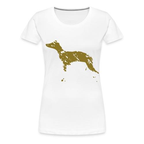 whippet abstrait - T-shirt Premium Femme