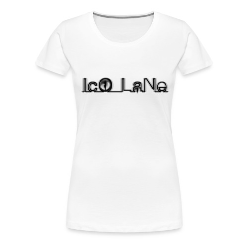 IcO LaNe Logo Black - Frauen Premium T-Shirt