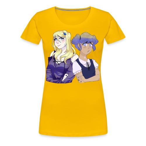 Sad-chan v1 & v2 Together - Arms Crossed - Women's Premium T-Shirt