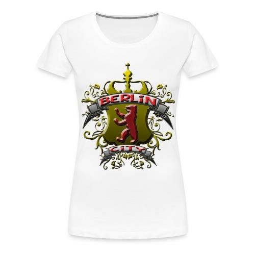 BERLIN CITY Wappen Berliner Bär mit Berlin City - Frauen Premium T-Shirt
