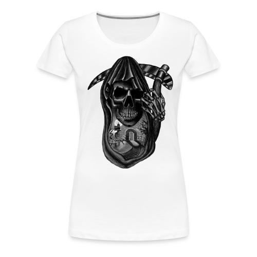 Skull design tshirt - Premium T-skjorte for kvinner