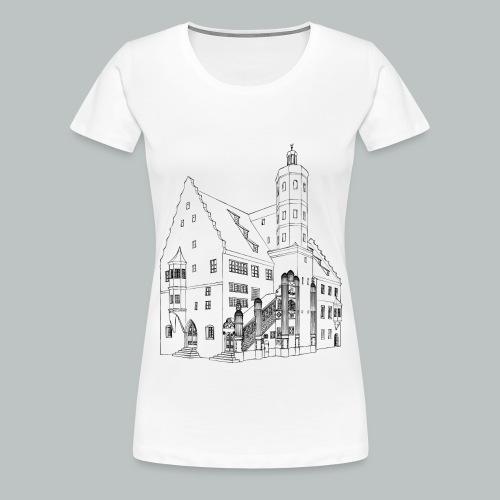 Nördlingen T-Shirt Rathaus schwarz - Frauen Premium T-Shirt
