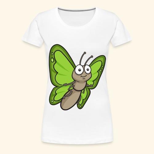 Butterfly Cartoon - Women's Premium T-Shirt