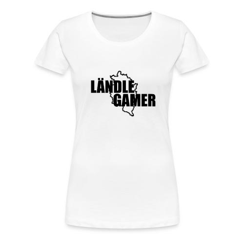 Ländle Gamer Schwarz - Frauen Premium T-Shirt