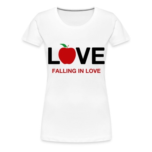 Falling in Love - Black - Women's Premium T-Shirt