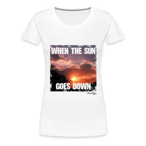 when the sun goes down png - Frauen Premium T-Shirt