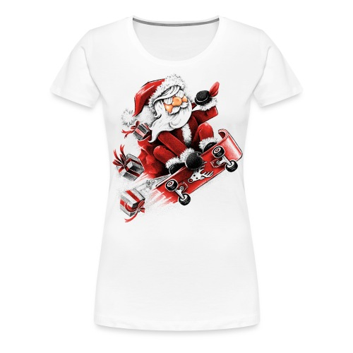 Santa Skateboarding - Women's Premium T-Shirt