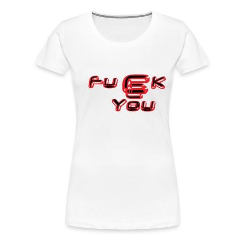 fucck_you_rouge_et_noir - T-shirt Premium Femme