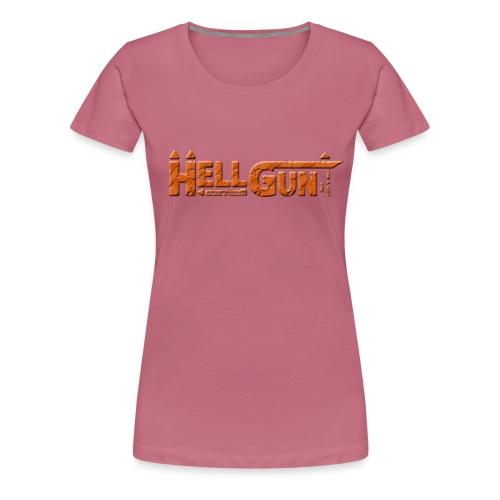 HELLGUN logo 2014 orange png - Frauen Premium T-Shirt