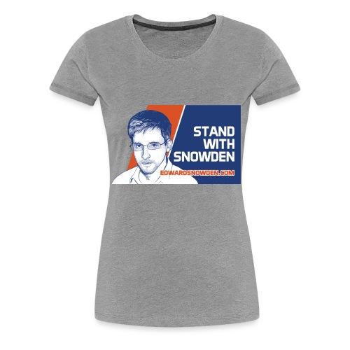 Stand With Snowden - Women's Premium T-Shirt